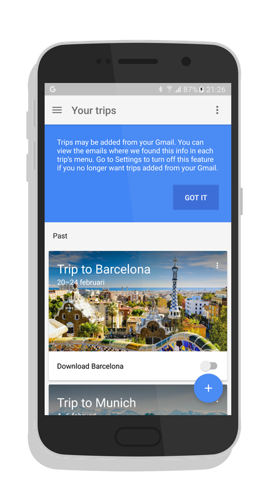 Google Travel App