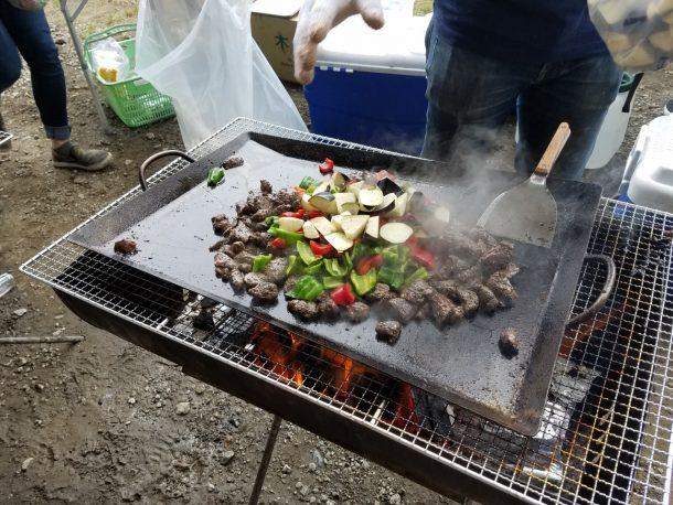 カンガルーの夏野菜炒め