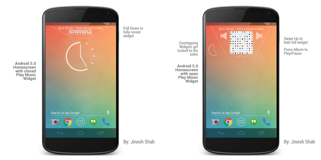 Android 5.0 Homescreen2