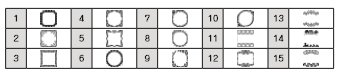 SR-GL1のイニシャル枠。英数字2文字を組み合わせてオリジナルイニシャルマークを作れる。