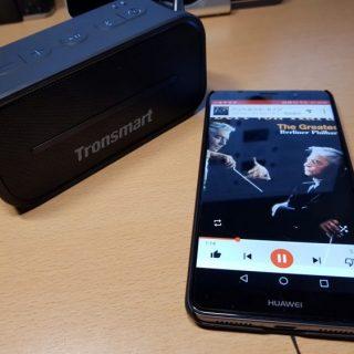 お風呂でも使える防水Bluetoothスピーカー Tronsmart Element T2が小さいのに高音質