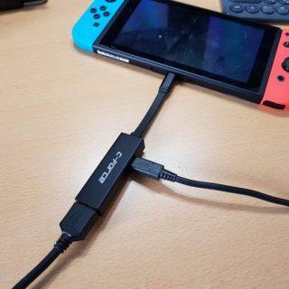 Nintendo SwitchをTVに出力できる小型アダプタ 「C-Force CF002」は持ち運びに便利